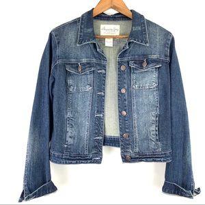 American Rag Distressed Denim Jacket